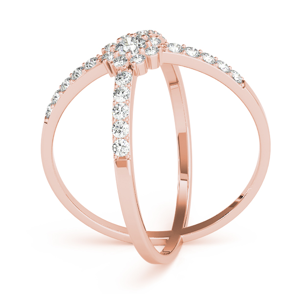 Diamond XO Ring Rose Gold