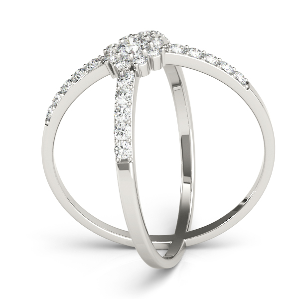Diamond Hugs Kisses Ring