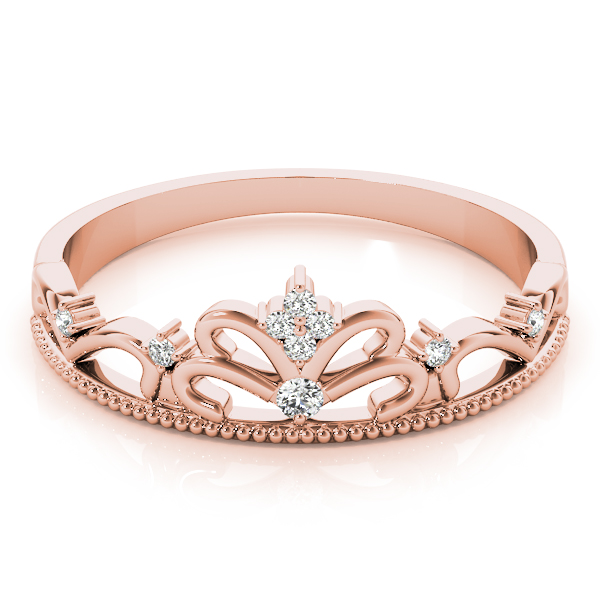 Tiara Diamond Ring Rose Gold