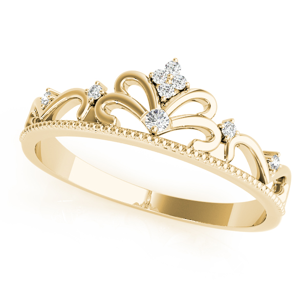 Tiara Diamond Ring Yellow Gold