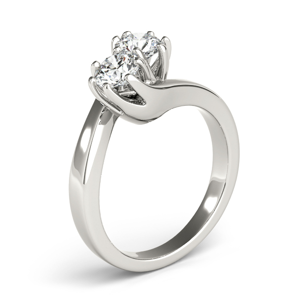 Duo Swirl Round Diamond Anniversary Ring