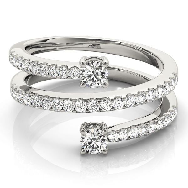 Spiral Duo Diamond Ring