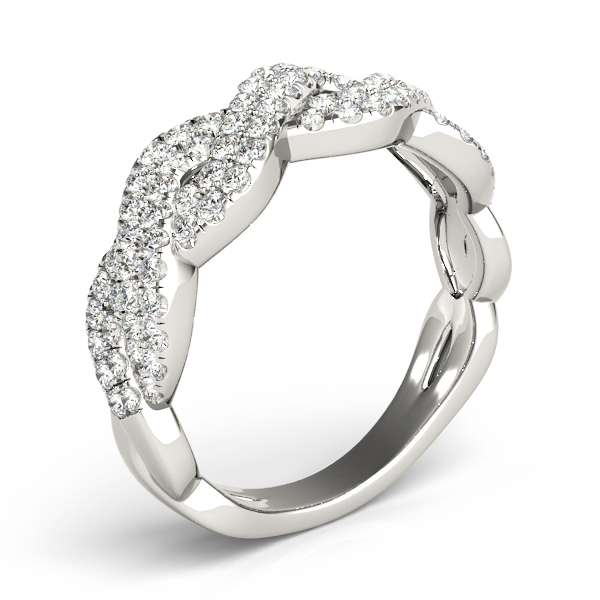 Multi-Row Infinity Wide Diamond Band