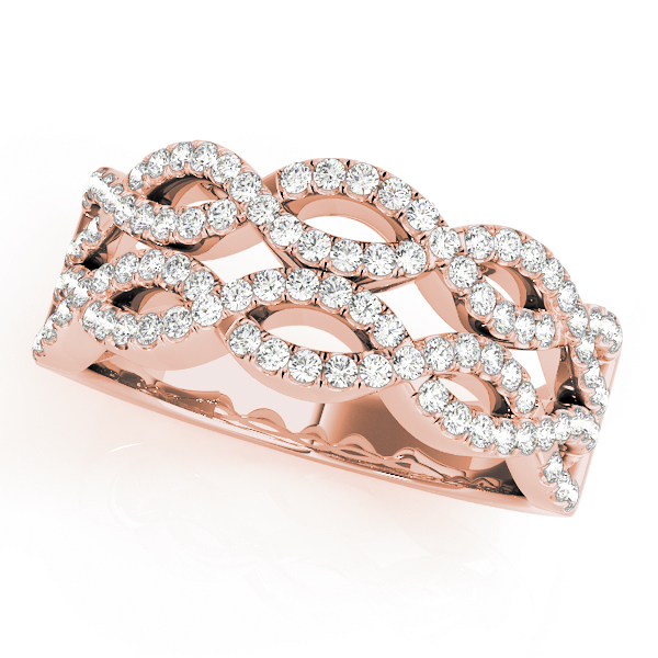 Double Infinity Diamond Band in Rose Gold