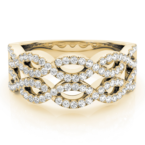 Double Infinity Diamond Band in Yellow Gold