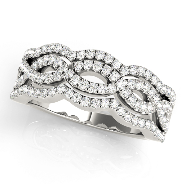 Four Row Diamond Band with Infinity Design