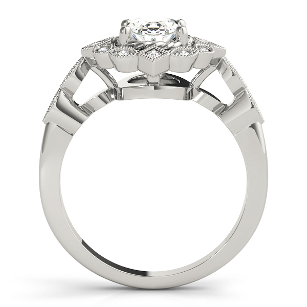 Oval Swing Halo Diamond Engagement Ring
