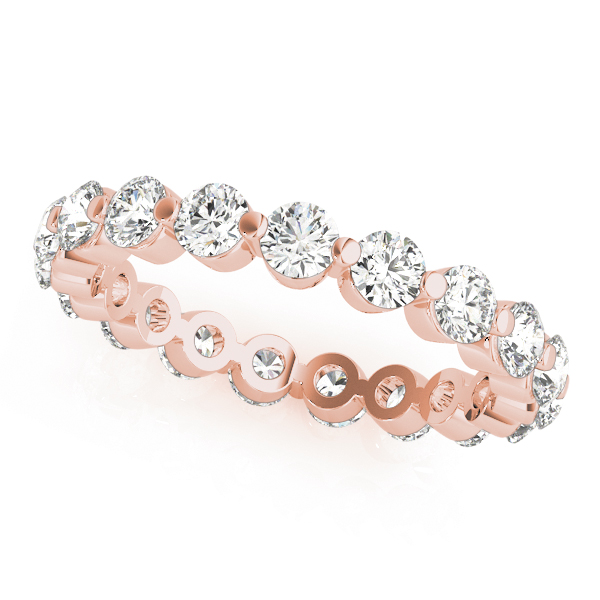 Diamond Eternity Band 1.33 Ct Rose Gold