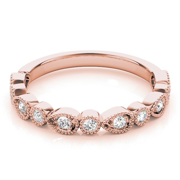 Pear Shaped Stackable Swing Band Rose Gold