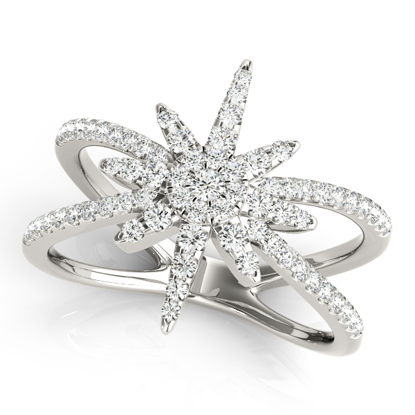 Exploding Star Diamond Ring
