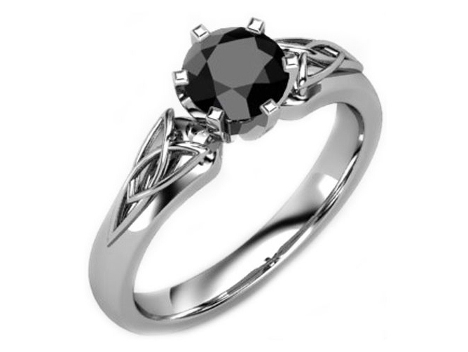 engagement and wedding white rings unusual diamond ring black three stone