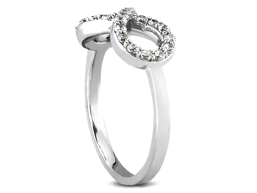 Infinity Symbol Diamond Ring