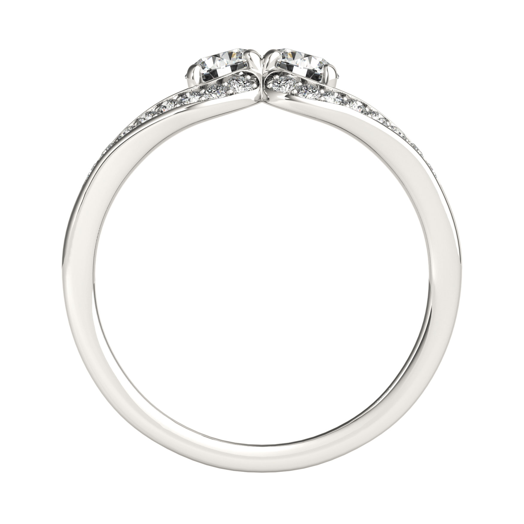 Split Band Horseshoe Duo Promise Ring 0.75 tcw.