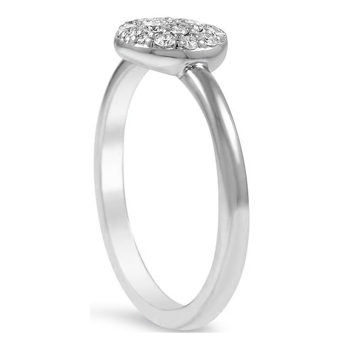 Cluster Pave Set Diamond Ring