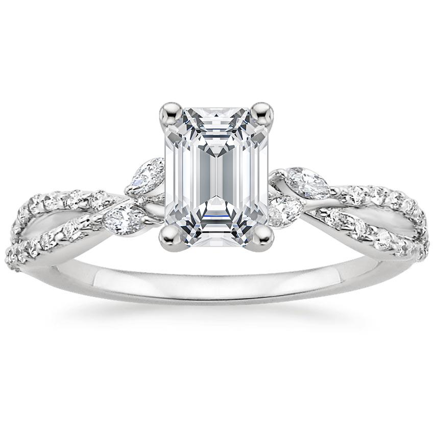 EmeraldDiamond Engagement Ring Marquise Floral Vine