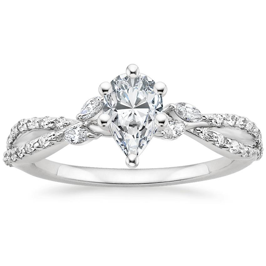 Pear Diamond Engagement Ring Marquise Floral Vine