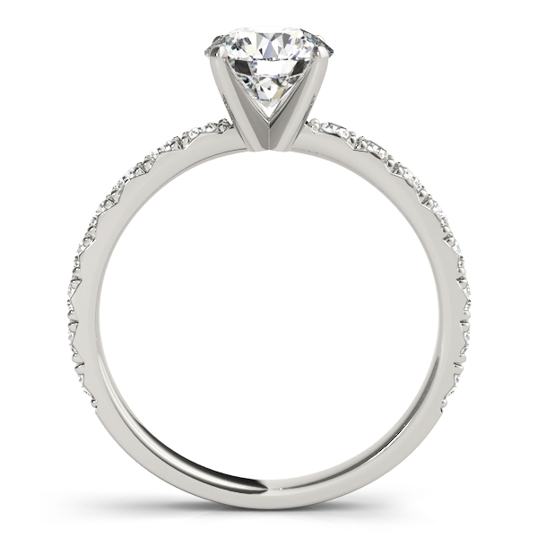 Classic Pave Set Diamond Engagement Ring