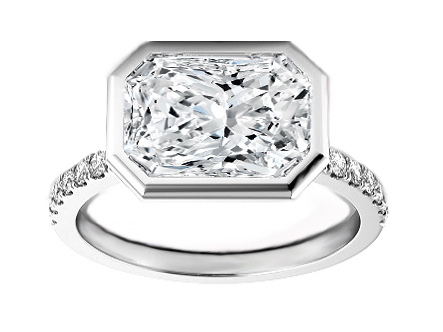 Vivo per lei Radiant Cut Diamond Engagement Ring