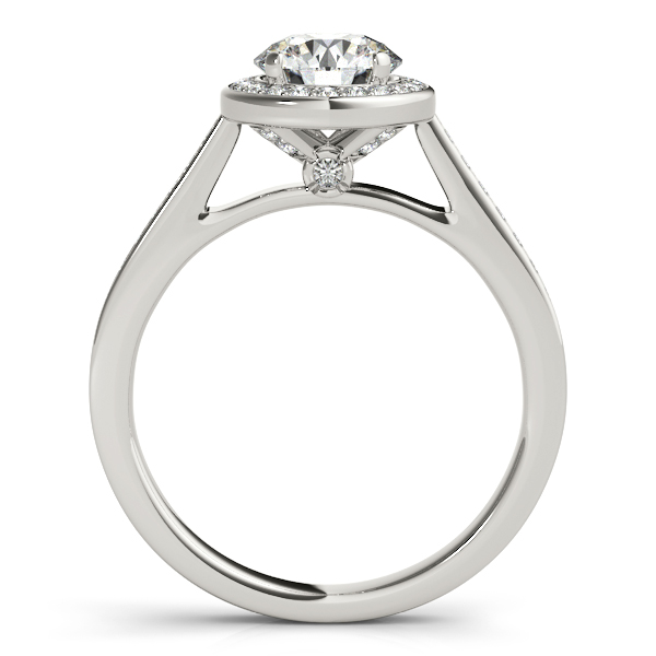 Halo Diamond Cathedral Bridal Set with Surprise Diamond