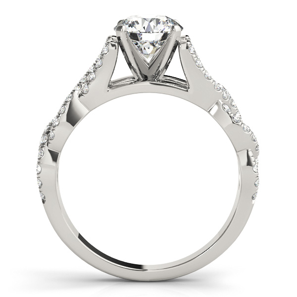 Link Infinity Diamond Cathedral Engagement Ring
