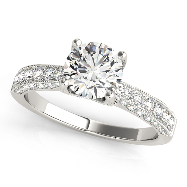 Cathedral Diamond Vintage Engagement Ring