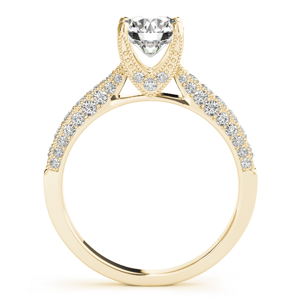 Cathedral Diamond Vintage Engagement Ring in Yellow Gold