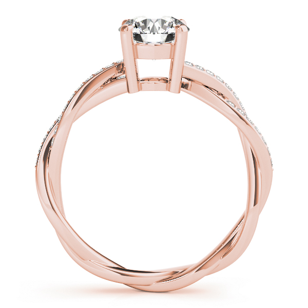 Petite Eternity Intertwined Diamond Engagement Ring in Rose Gold