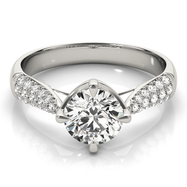 Cathedral Tapered Etoil Diamond Engagement Ring
