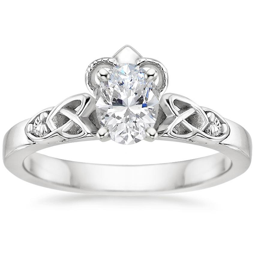 Oval Diamond Celtic Claddagh Engagement Ring