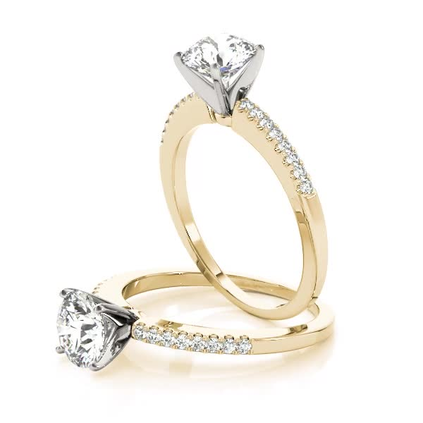 Classic Petite Diamond Engagement Ring in Yellow Gold