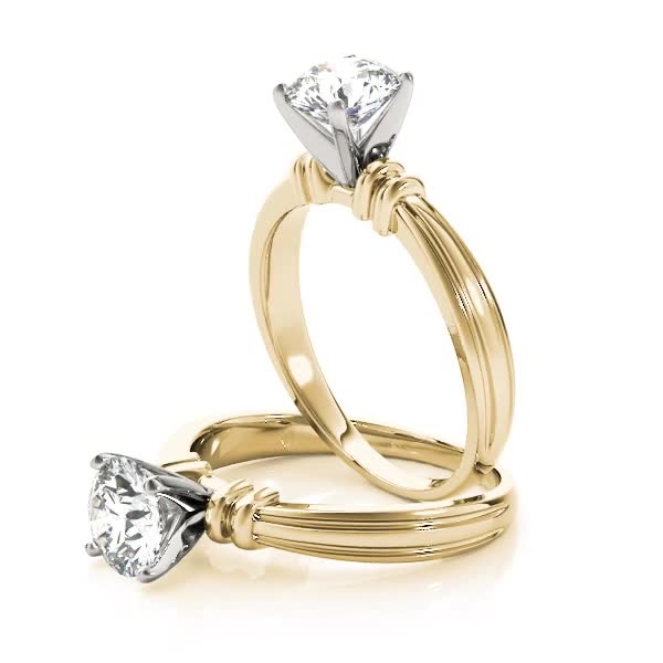 Solitaire Engagement Ring in Yellow Gold
