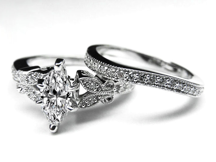 Pics For Antique Engagement Rings Marquise