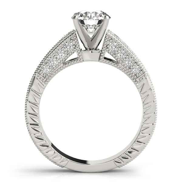 Cathedral Vintage Diamond Engagement Ring