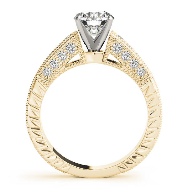 Cathedral Vintage Diamond Engagement Ring in Yellow Gold