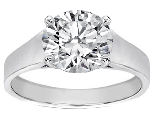 diamond ring settings. Ring Setting in Platinum