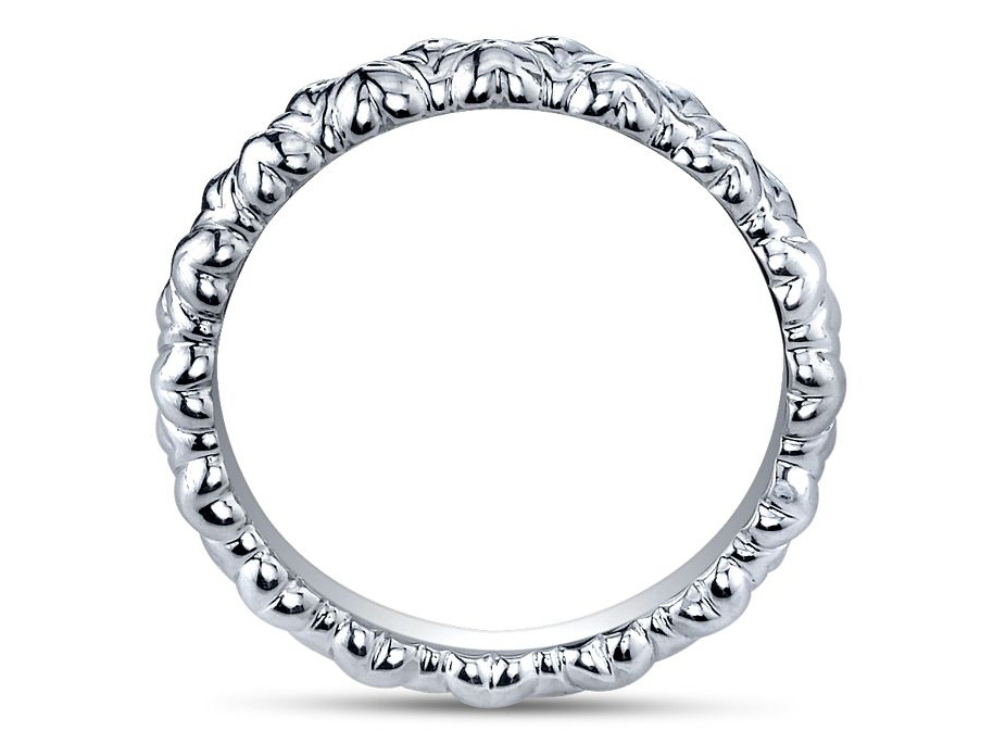 Alternating Inverted Heart Shape Matching Wedding Band