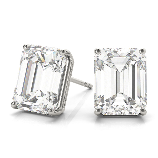 Emerald  Diamond Stud Earrings 1.0 Ct.