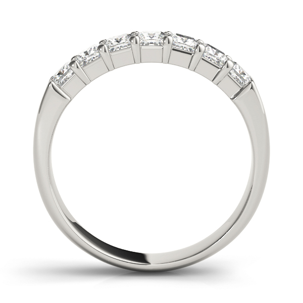 Eight Princess Diamond Wedding Band 3.2 Ct Platinum