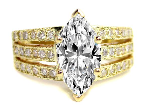 yellow gold diamond engagement rings