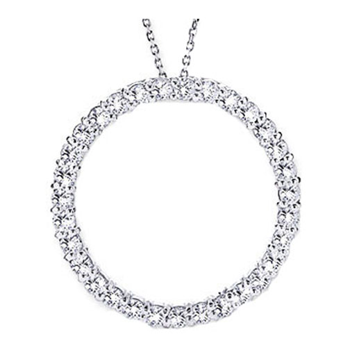 Circle of Love Diamond Pendant 2.00 tcw. In14 Karat White Gold