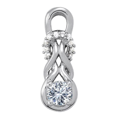 Double Love Knot Diamond Pendant