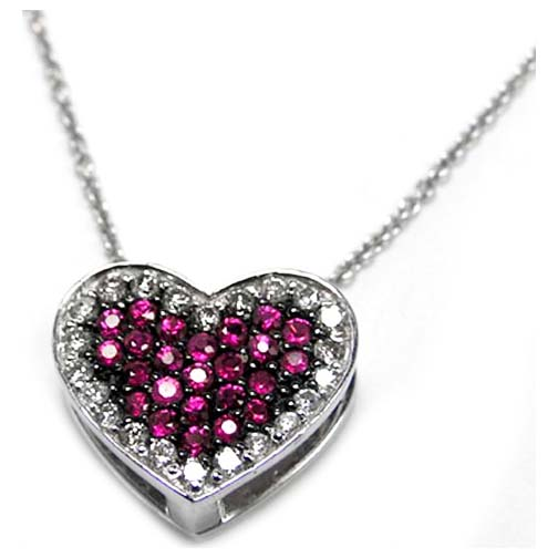 Diamond Heart Locket with Sapphires 0.81 Carat
