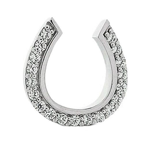 0.38 Carat Horseshoe Pendant in White Gold