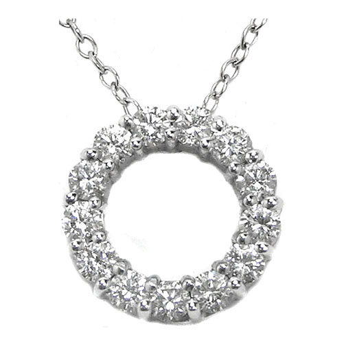 Circle of Life Diamond Pendant 0.91 Carat tw in 14K White Gold