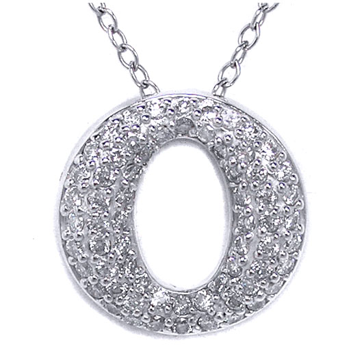 Circle of Love Round Diamond Pendant 0.69 tcw. in 14 Karat White Gold