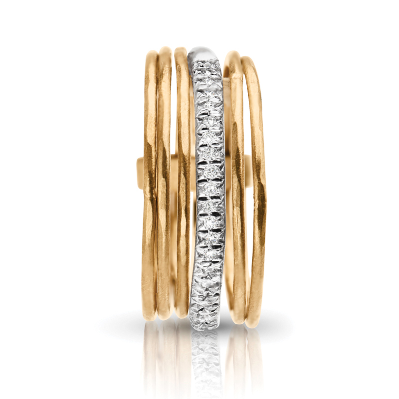 Stackable Petite Gold & Diamond Band