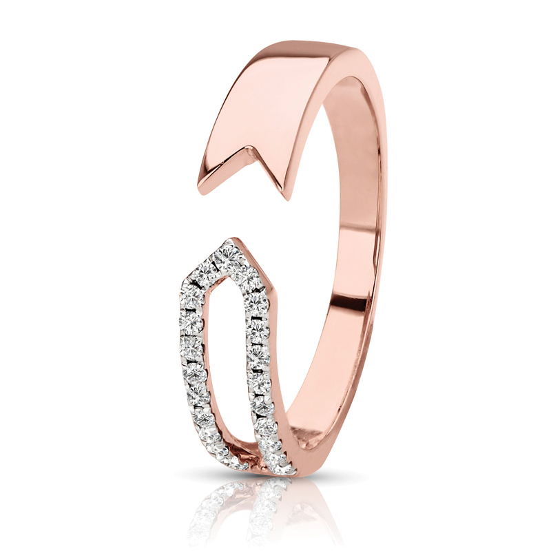 Petite Split Open Band in Rose Gold