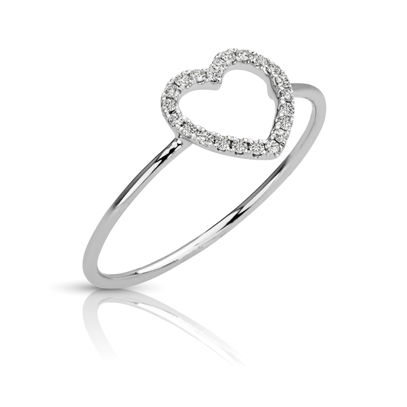 Petite Heart Diamond Ring