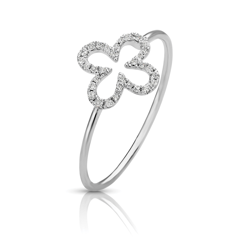 Petite Floral Diamond Ring