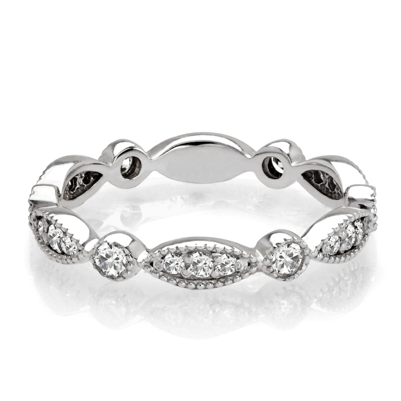 Swing Eternity Diamond Band with Milligrain